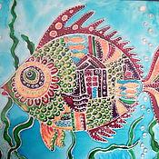 Картины и панно ручной работы. Ярмарка Мастеров - ручная работа Чудо-Юдо-Рыба-Кит. Handmade.