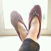 """Обувь ручной работы. Ярмарка Мастеров - ручная работа Вязаные следки """"Ежевично-шиповые"""". Handmade."""