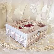 Для дома и интерьера ручной работы. Ярмарка Мастеров - ручная работа шкатулка для чая В Париже. Handmade.