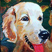 """Картины и панно ручной работы. Ярмарка Мастеров - ручная работа Картина """"Собака Груша"""". Handmade."""