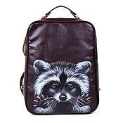 "Сумки и аксессуары handmade. Livemaster - original item Female backpack ""Raccoon"". Handmade."