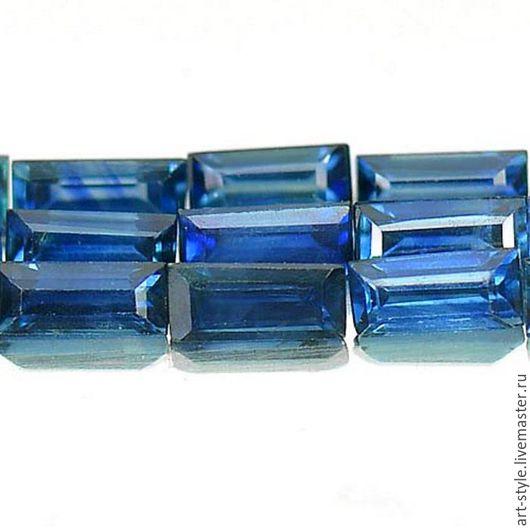 Для украшений ручной работы. Ярмарка Мастеров - ручная работа. Купить Сапфир синий, огранка октагон, 15 штук.. Handmade.