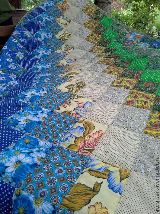 Текстиль, ковры ручной работы. Ярмарка Мастеров - ручная работа. Купить Лоскутное одеяло Опушка. Handmade. Лоскутное одеяло
