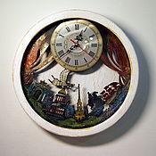 Винтаж handmade. Livemaster - original item Vintage St. Petersburg original wall clock in a wooden case. Handmade.