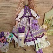Куклы Тильда ручной работы. Ярмарка Мастеров - ручная работа Кукла тильда Лавандовая фея Мари из Прованса ангел. Handmade.