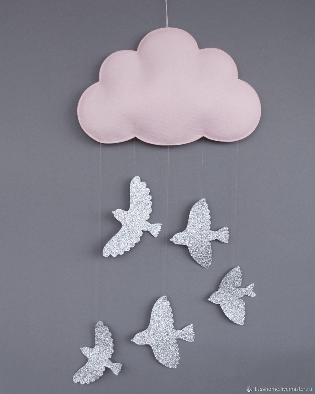 Облачко - Pink and birds - настенный декор, Элементы интерьера, Краснодар,  Фото №1