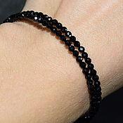 Украшения handmade. Livemaster - original item Sparkling Black Natural Spinel Bracelet with Cut. Handmade.