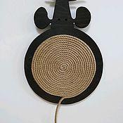 """Когтеточки ручной работы. Ярмарка Мастеров - ручная работа Когтеточка настенная """"Толстый мышь"""". Handmade."""