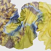 Аксессуары ручной работы. Ярмарка Мастеров - ручная работа Валяный шарф Желтый Шартрёз. Handmade.