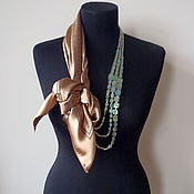 Украшения handmade. Livemaster - original item Scarf-necklace 575 Atlas. Handmade.