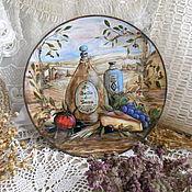 Картины и панно ручной работы. Ярмарка Мастеров - ручная работа декоративная тарелка Olive Olio Toscana ,25 см диаметр. Handmade.