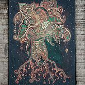 Картины и панно ручной работы. Ярмарка Мастеров - ручная работа Древо Жизни, интерьерная картина на холсте. Handmade.