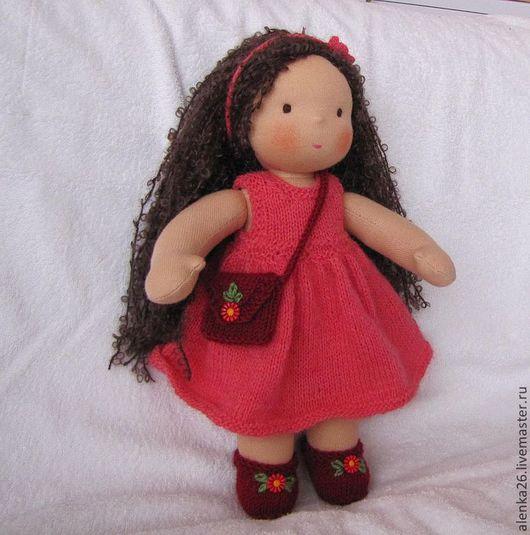 Вальдорфская игрушка ручной работы. Ярмарка Мастеров - ручная работа. Купить Вальдорфская кукла 32см. Handmade. Коралловый, детская игрушка