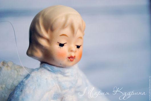 Человечки ручной работы. Ярмарка Мастеров - ручная работа. Купить Ватные елочные игрушки. Ангел. Handmade. Голубой, ангел из ваты