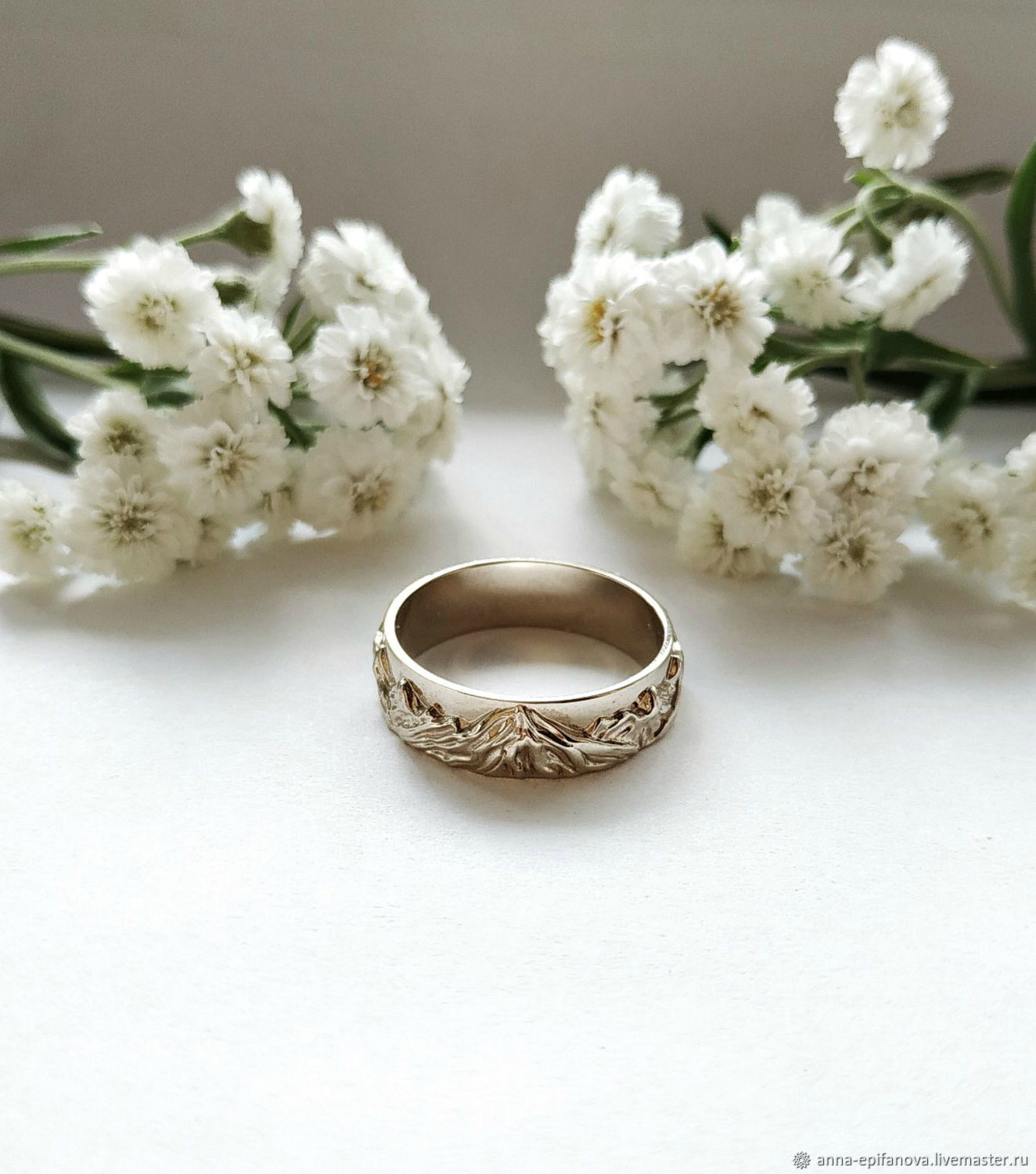 Mountain Ring No. №1 in 585 white gold (Ob11), Engagement rings, Chelyabinsk,  Фото №1