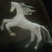 Статуэтка ручной работы. Ярмарка Мастеров - ручная работа Зимняя лошадка. Handmade.