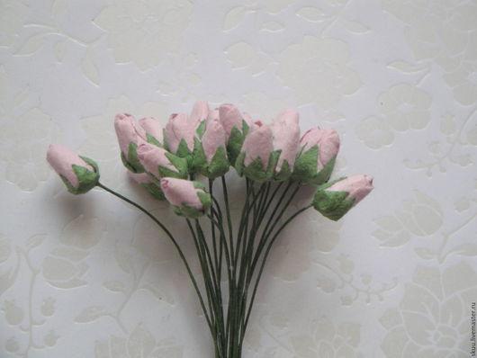 Открытки и скрапбукинг ручной работы. Ярмарка Мастеров - ручная работа. Купить 2 цвета Бутоны роз закрытые. Handmade. Комбинированный