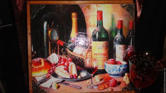 """Корзины, коробы ручной работы. Ярмарка Мастеров - ручная работа. Купить Мини - бар """"Коллекционные вина"""".. Handmade. Короб для вина"""
