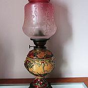 Винтаж handmade. Livemaster - original item Kerosene LAMP MAJOLICA AUSTRIA Hand painted 19th century. Handmade.