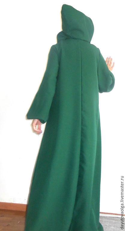 Ролевые игры ручной работы. Ярмарка Мастеров - ручная работа. Купить Платье-балахон темно-зеленый. Handmade. Платье, сказочный