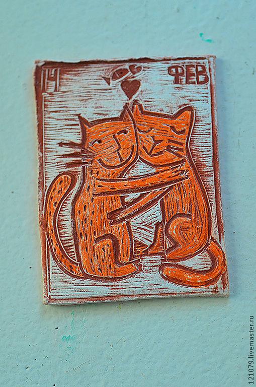 Подарки для влюбленных ручной работы. Ярмарка Мастеров - ручная работа. Купить Влюбленные коты. Handmade. Рыжий, влюбленные, влюбленная пара