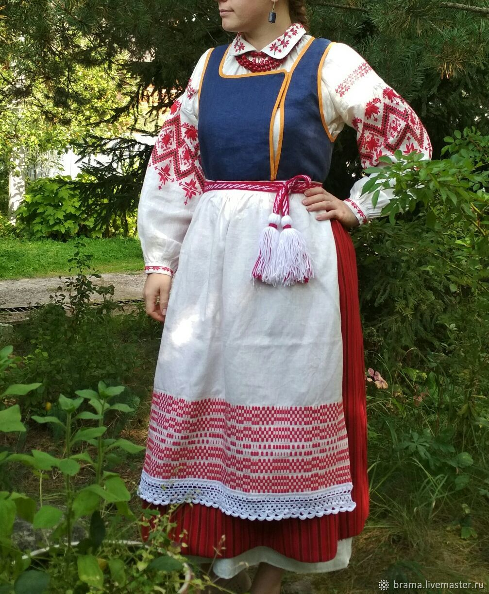 Сарафан - жилет с юбкой, Народные костюмы, Ногинск, Фото №1