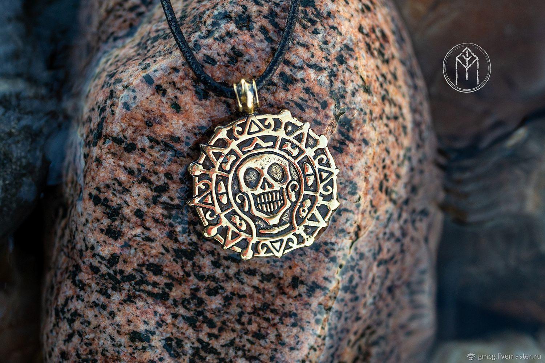 Medallion Pendant Aztec Gold