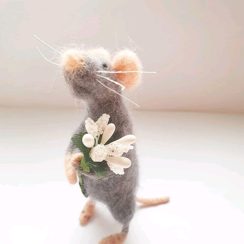 Игрушки из войлока. Мышь, Войлочная игрушка, Москва,  Фото №1
