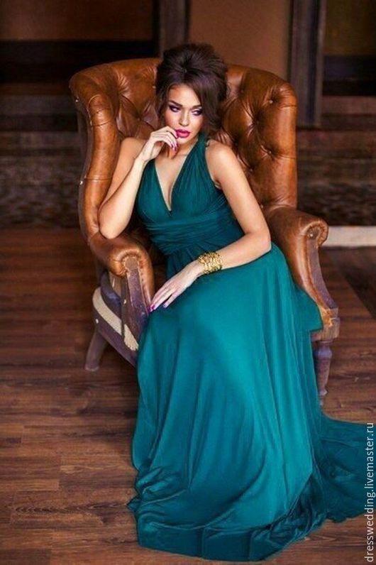 Платья ручной работы. Ярмарка Мастеров - ручная работа. Купить Платье нарядное. Handmade. Зеленое платье, платье вечернее