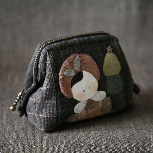 Женские сумки ручной работы. Ярмарка Мастеров - ручная работа. Купить Японская косметичка-саквояжик.. Handmade. Комбинированный, Аппликация, саквояж