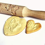 Для дома и интерьера ручной работы. Ярмарка Мастеров - ручная работа Скалка для печенья скалка для пряников Бабочка и цветок. Handmade.