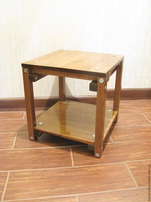 Мебель ручной работы. Ярмарка Мастеров - ручная работа. Купить Столик прикроватный Лофт. Handmade. Коричневый, прикроватный, лофт, лак