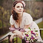Свадебный салон ручной работы. Ярмарка Мастеров - ручная работа Свадебное платье в романтическом стиле. Handmade.