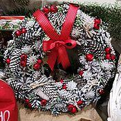Изделия ручной работы. Ярмарка Мастеров - ручная работа Новогодний венок из эко материала. Handmade.