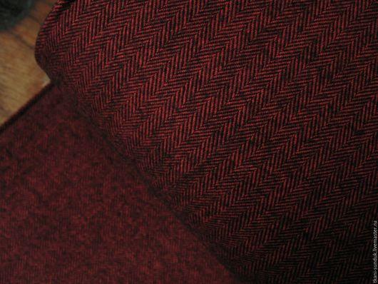 Шитье ручной работы. Ярмарка Мастеров - ручная работа. Купить Фланель США SHETLAND FLANNEL (твид). Handmade. Бордовый, фланель