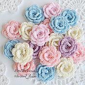 Материалы для творчества handmade. Livemaster - original item Knitted dimensional roses 3D. Handmade.