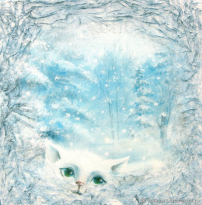 Кошка-зима, Картины цветов, Новосибирск, Фото №1