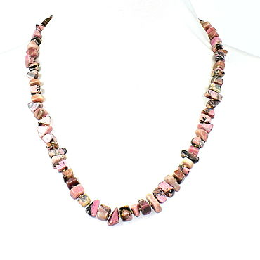 Decorations handmade. Livemaster - original item Necklace natural stone rhodonite. Handmade.
