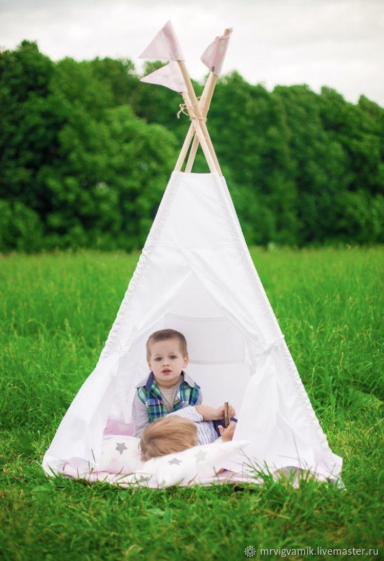 Детский вигвам с окошком и кармашком. Домик. Игровая палатка. Шалаш, Мебель, Москва, Фото №1