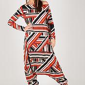 handmade. Livemaster - original item Striped long-sleeved jumpsuit-JP0350TR. Handmade.