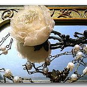 """Украшения ручной работы. Ярмарка Мастеров - ручная работа Кулон - подвеска """"День Розали"""" нежно-бежевая. Handmade."""