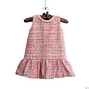 Одежда детская handmade. Livemaster - original item Elegant warm sundress for a girl in Chanel style height 92-98. Handmade.