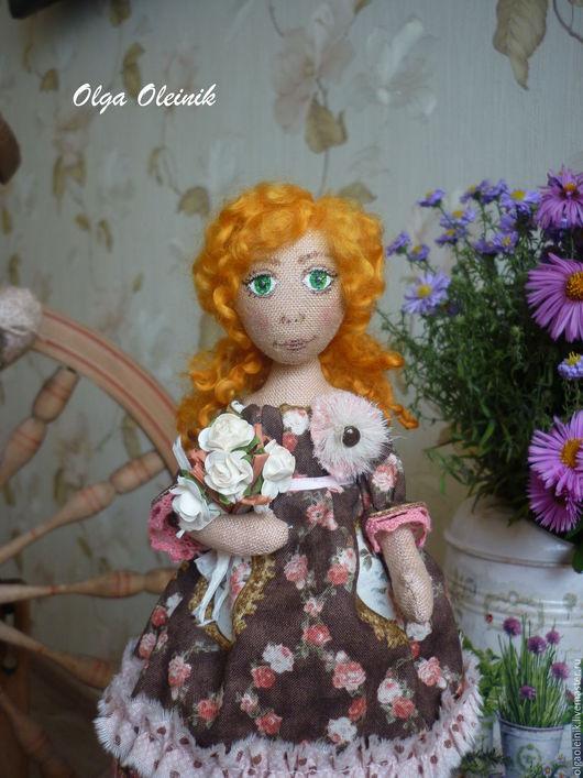 """Человечки ручной работы. Ярмарка Мастеров - ручная работа. Купить Куколка """"Карамельная роза"""". Handmade. Коричневый, американский хлопок"""
