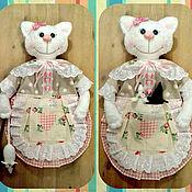 Для дома и интерьера ручной работы. Ярмарка Мастеров - ручная работа Пакетница (кошка и мыши). Handmade.