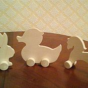 игрушки на колесах ( деревянные заготовки)