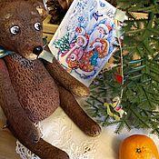 Куклы и игрушки ручной работы. Ярмарка Мастеров - ручная работа Мишка с бантом. Handmade.