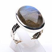 Украшения ручной работы. Ярмарка Мастеров - ручная работа Лабрадор кольцо серебряное. Handmade.