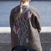 """Одежда ручной работы. Ярмарка Мастеров - ручная работа Кардиган Жакет валяный войлочный шерстяной """"Моя Магнолия"""". Handmade."""