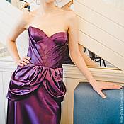 Одежда ручной работы. Ярмарка Мастеров - ручная работа Вечернее платье со шлейфом. Handmade.