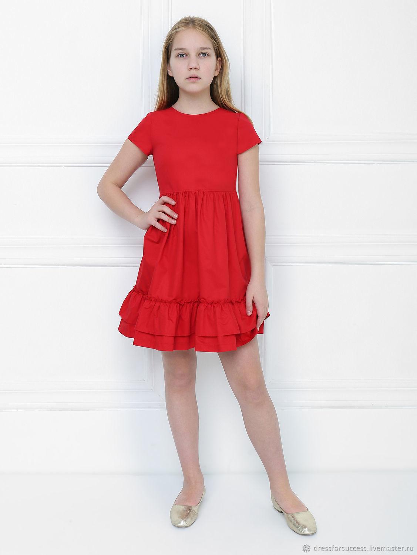 Платье с оборками, хлопок, Платья, Самара,  Фото №1